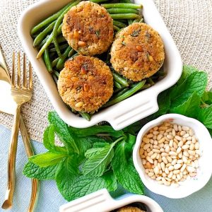 Easy Couscous Patties and Green Beans