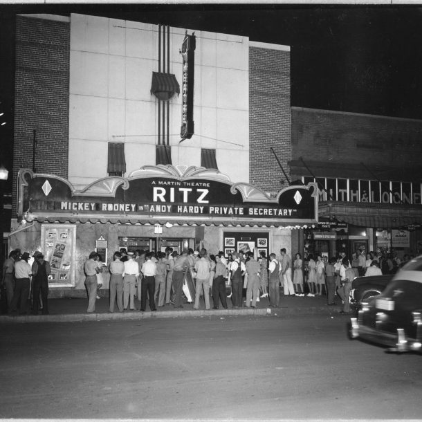 Midnight showing of Andy Hardy's Private Secretary in Coosa Valley, Alabama (1941)