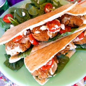 Mint Falafel Pitas with Smoky Sweet Tahini