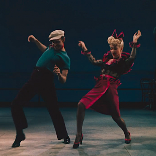 Betty and Hermes Pan, who choreographed the dance numbers in Pin-Up Girl, perform the showstopping