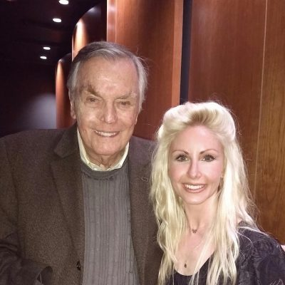 Me with original Hollywood Squares host, Peter Marshall! Peter is the NICEST man. Peter's wife, Laurie, took this picture. How cool is that??! Laurie is such a pro, she took the picture with and without a flash so I would have options in case it turned out better one way or another.