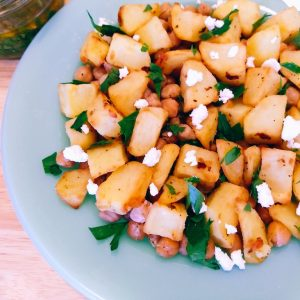 Lebanese Potatoes & Salsa with Chickpeas