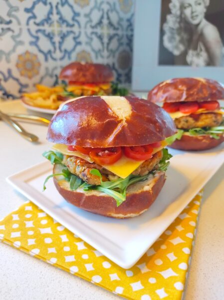 homemade vegan burgers