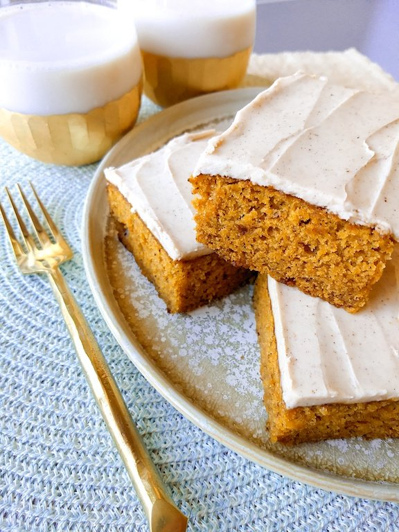Pumpkin Cake with Spiced Buttercream
