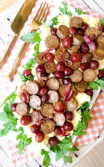 Tuscan Veggie Sausage and Roasted Grapes